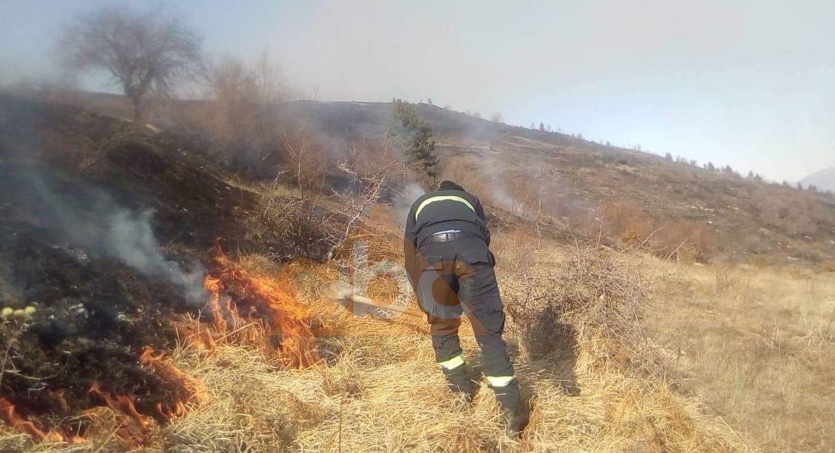 Zjarr i përmasave të mëdha, stabilizohet situata në zonën e Cardhakut në Devoll