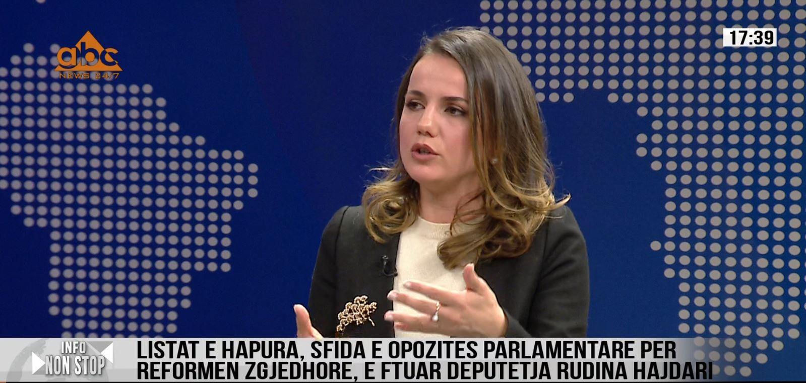 """Rudina Hajdari: Sistemi zgjedhor duhet të ndryshojë, deri tani parlamenti ka patur """"bajraktarë"""" zonash"""