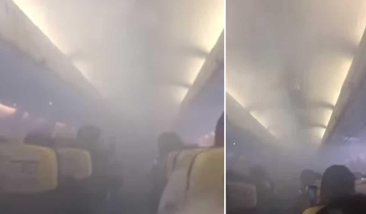 Avioni mbushet papritur me tym, udhëtarët bërtasin e qajnë gjatë fluturimit