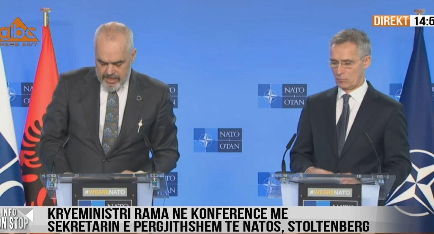 Rama, krah shefit të NATO-s: Të vijojë dialogu Kosovë-Serbi, kemi marrë masa ndaj Iranit