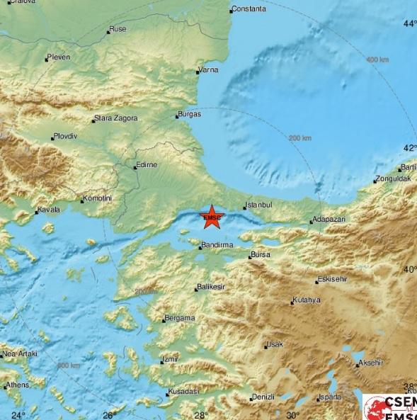 Tërmet i fuqishëm në Stamboll