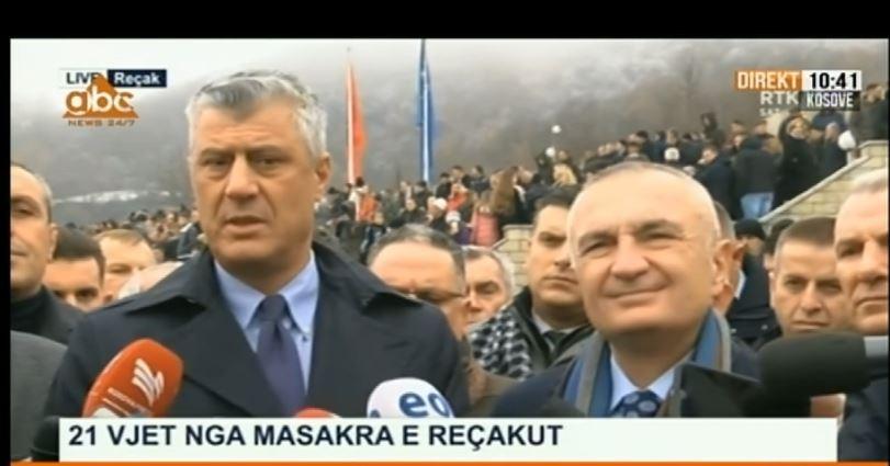 """Thaci: Sjellja e Serbisë për """"Masakrën e Reçakut"""" pasojë e heshtjes së ndërkombëtarëve"""