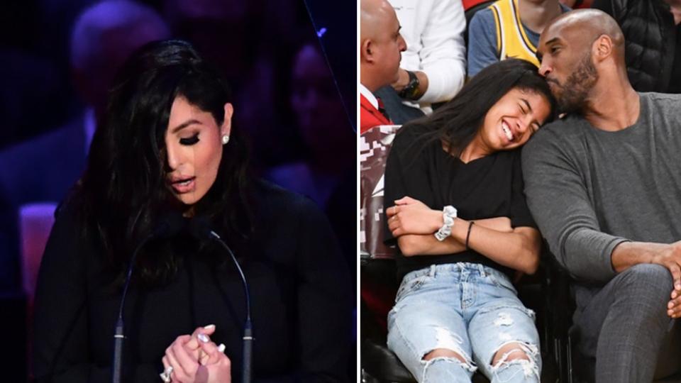 Fjalimi i Vanessa Bryant ndaj Kobe dhe Gianna sjell lot, pikëllim dhe buzëqeshje