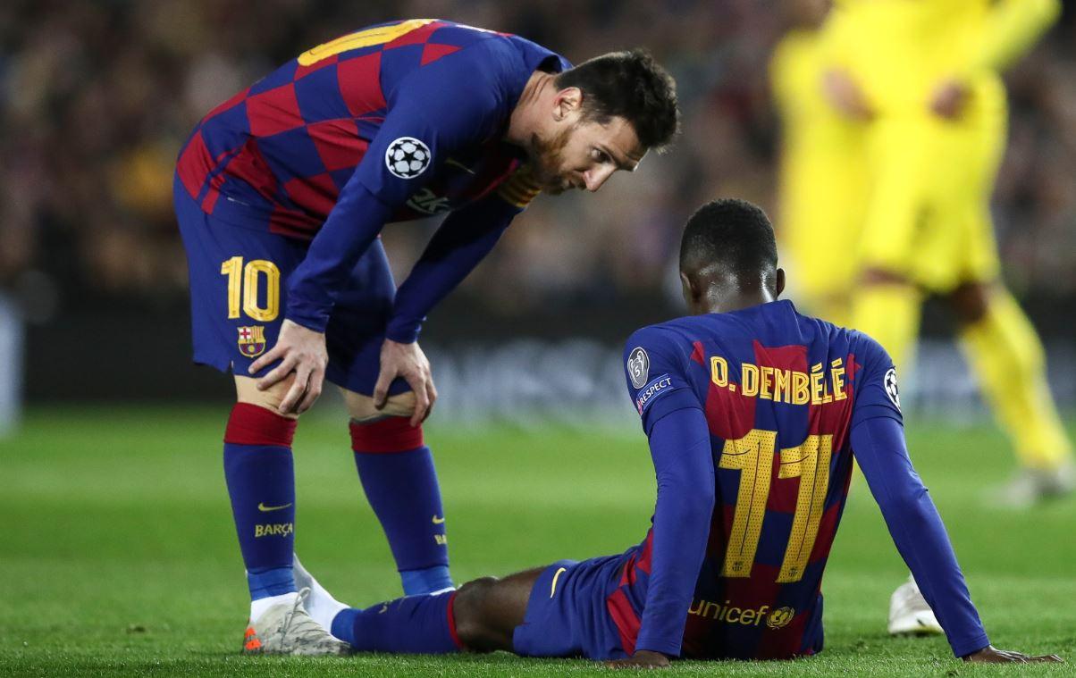 """Dembele sërish """"out"""", Barcelona konfirmon mungesën e gjatë të francezit"""