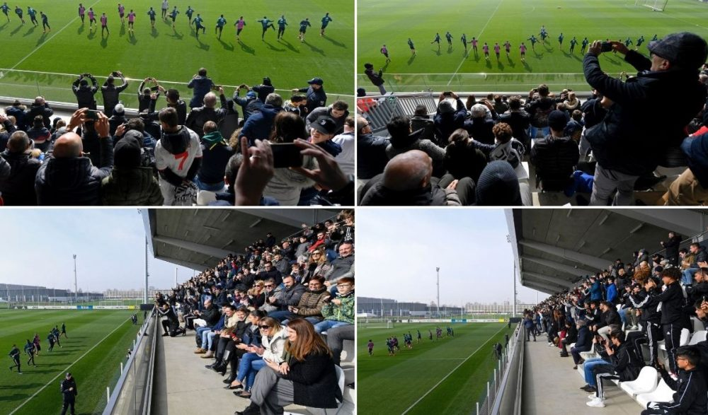 Tifozët mësyjnë në stërvitjen e Juventusit, një sulmues shqetëson Sarrin