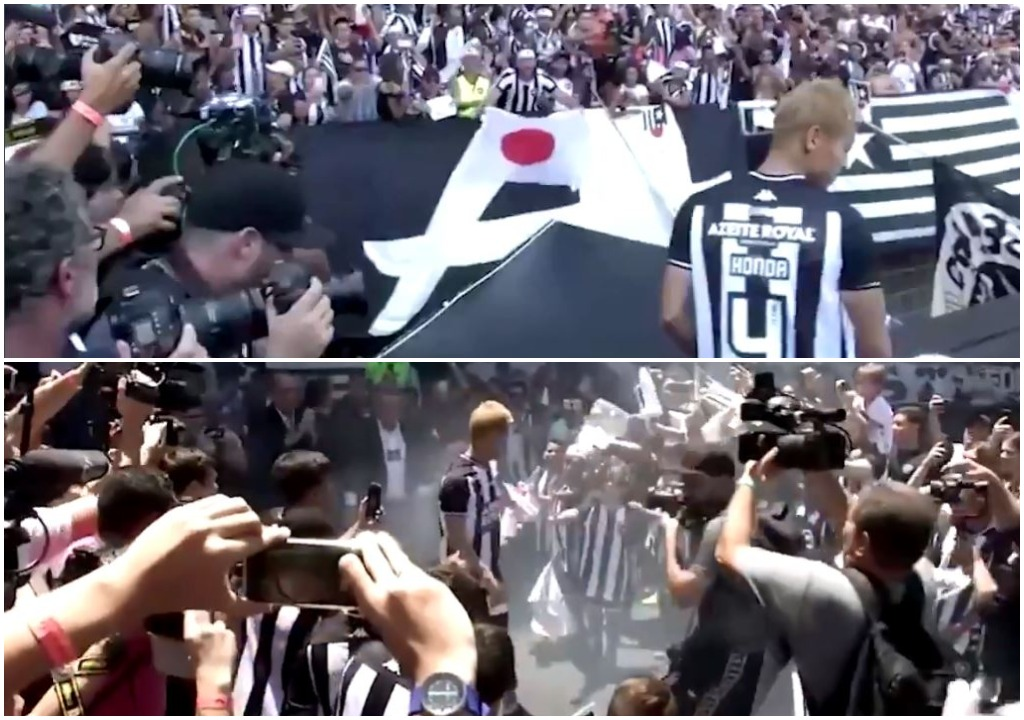VIDEO | Pritje madhështore në Brazil, Honda prezantohet nga Botafogo