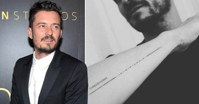 Orlando Bloom bën tatuazh emrin e të birit, por e shkruan gabim