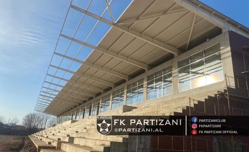 Punimet në stadiumin e ri, klubi i Partizanit informon tifozët e kuq