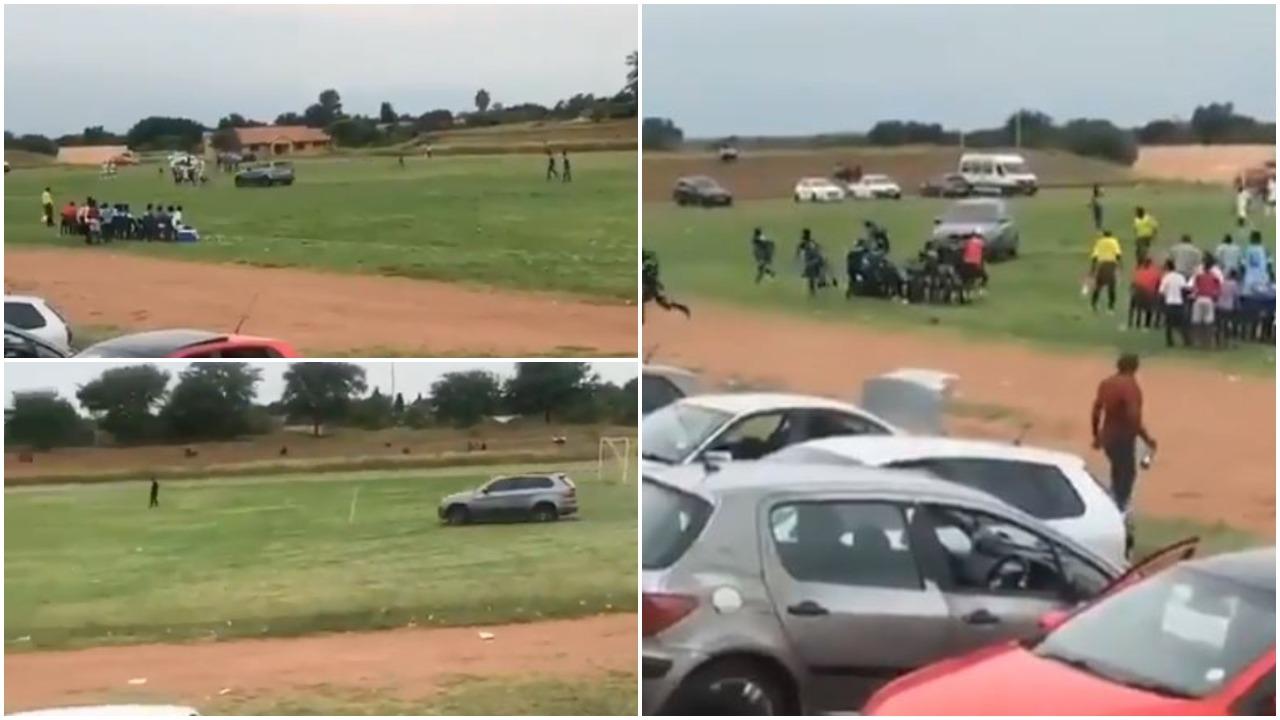 VIDEO   Pamje të pabesueshme, tifozi çmendet dhe futet në fushë me makinë