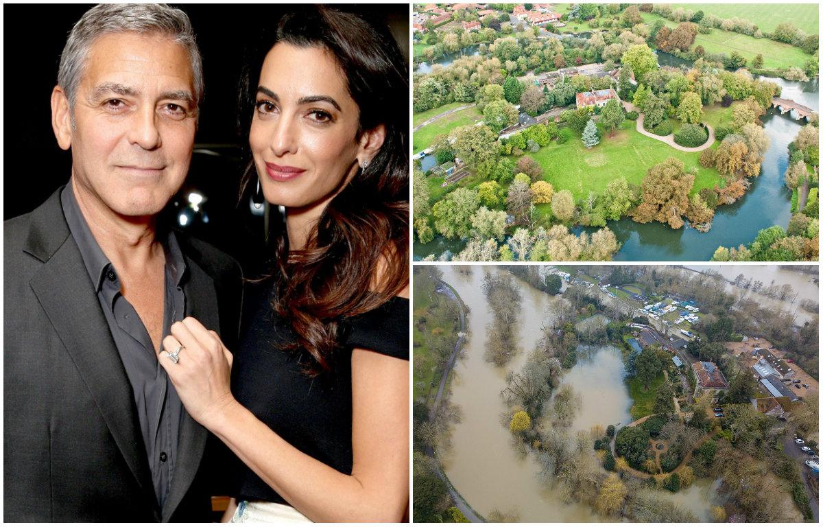 FOTO/ Stuhia më e rrezikshme e 200 viteve të fundit nuk kursen as vilën e George dhe Amal Clooney