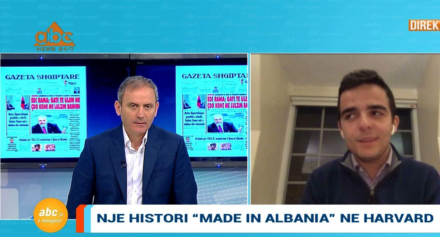 """""""Një histori shqiptare në Harvard"""", studenti Deni Hoxha tregon dëshirën për të promovuar Shqipërinë"""