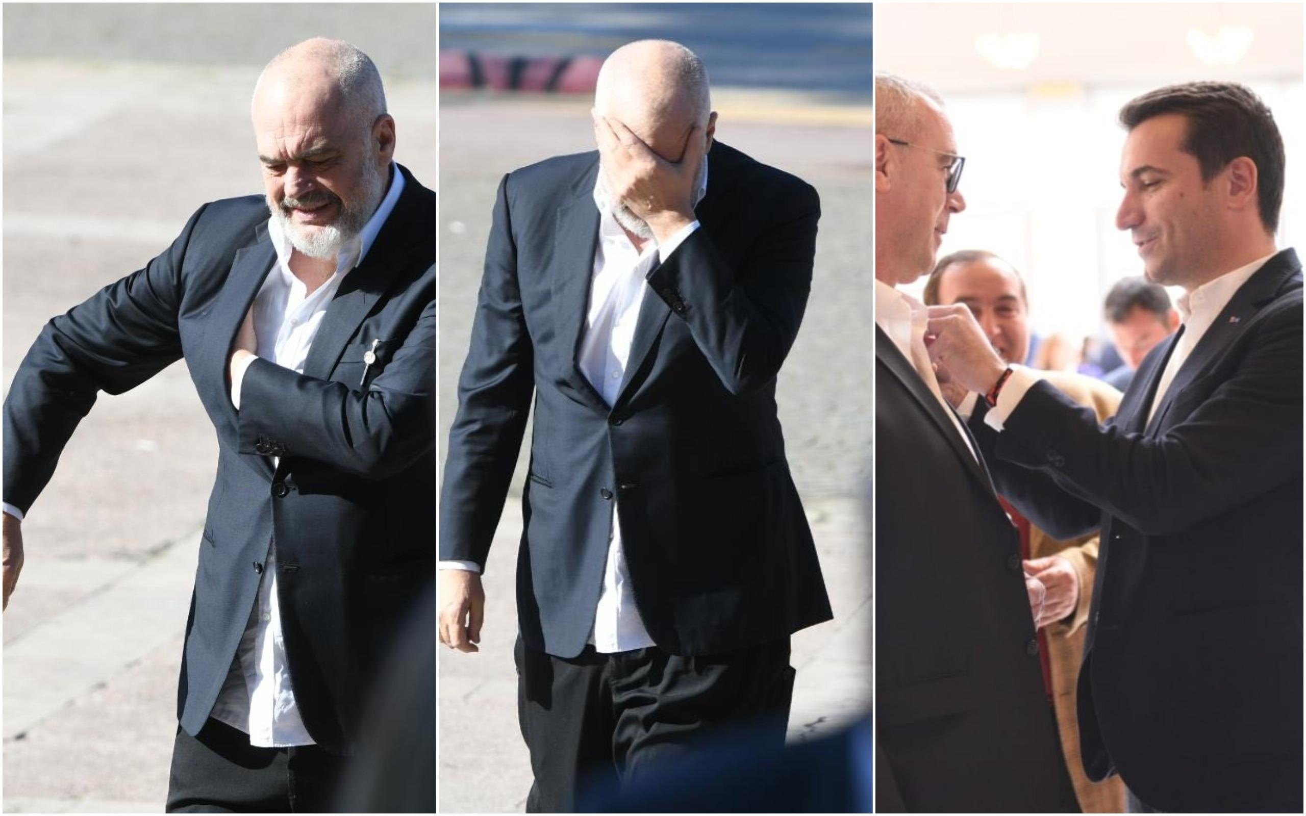 FOTO/ Ramën e shtrëngon xhaketa, Veliaj i rregullon kravatën Pëllumbit: Çfarë nuk u pa nga Kongresi i PS