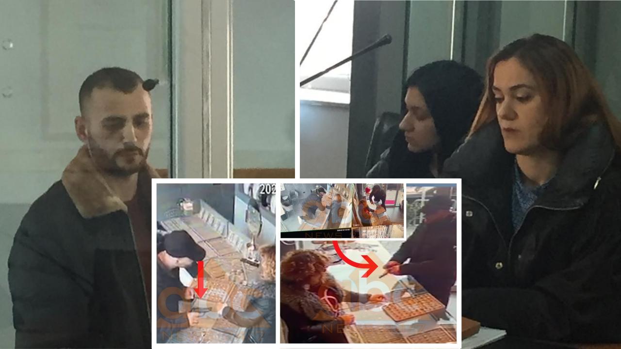 FOTO/ Grabitësi serial Astrit Thaçi, në gjykatë me të dashurën: Fjalët e para për krimet
