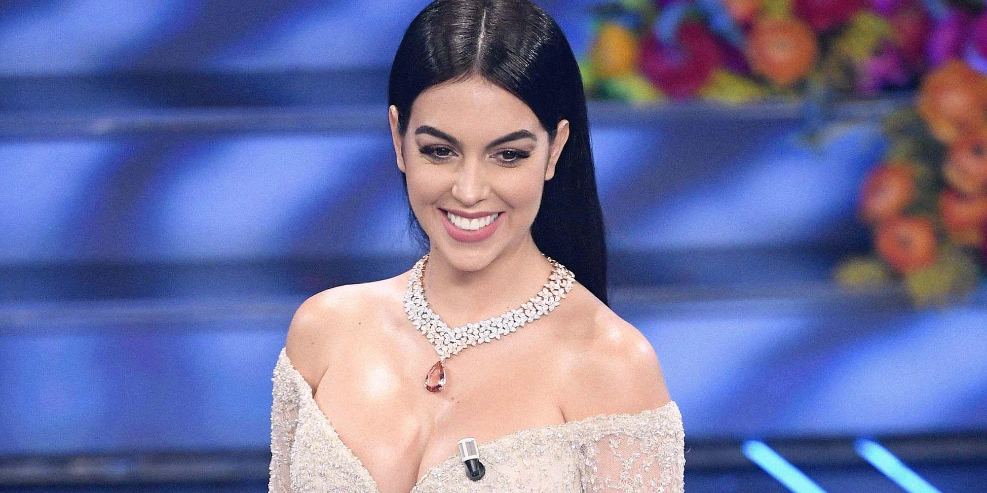 """Georgina Rodriguez shkëlqeu në """"Sanremo"""", por Cristiano ia mori të gjithë vëmendjen"""