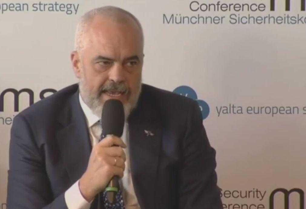 Rama në konferencën e Mynihut: Rusia jeton me frikën se është e rrethuar nga NATO dhe BE