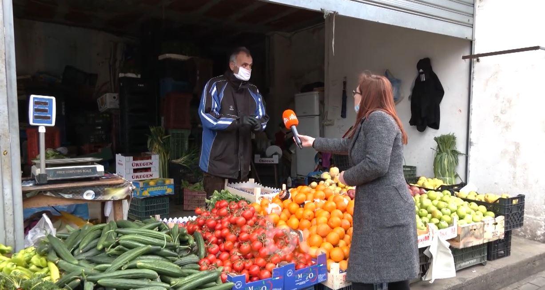 """""""ABC News"""" në tregun e fruta-perimeve të Kamzës, tregtarët ankohen se kanë rënë shtitjet"""
