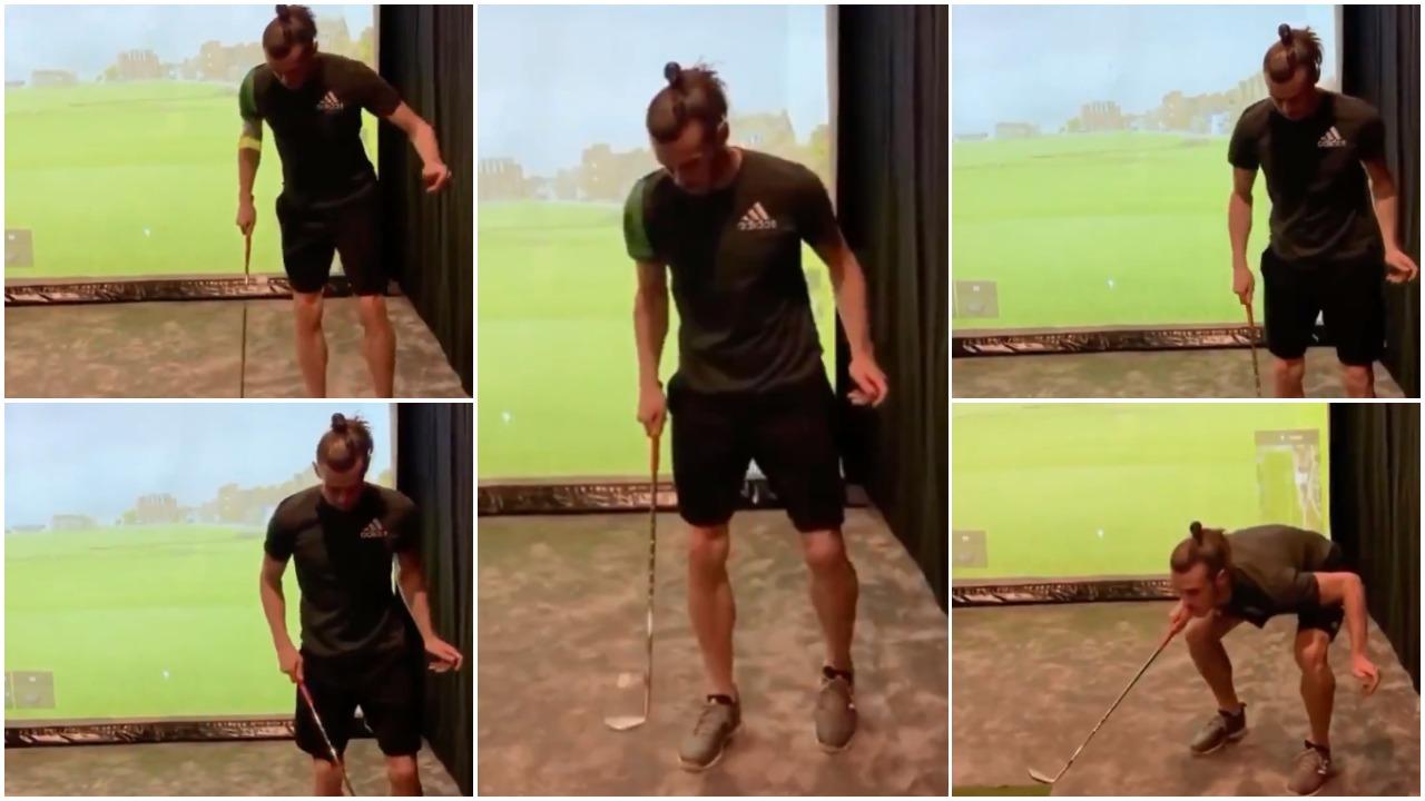 VIDEO | Gareth Bale është i çmendur, nuk i ndahet golfit as në karantinë