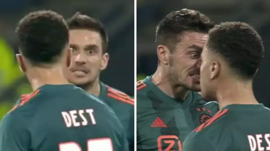 VIDEO | Serbi i Ajax e tepron, konfrontohet me shokun e tij të skuadrës