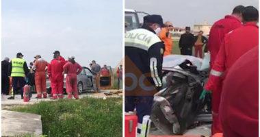 Përplasen makinat në Patos, plagoset rëndë një person