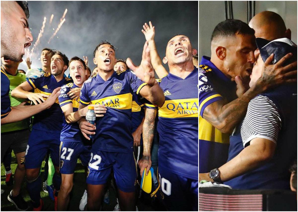 VIDEO/ Titull dramatik për Boca Juniors, heroi Tevez puth në buzë Maradonën