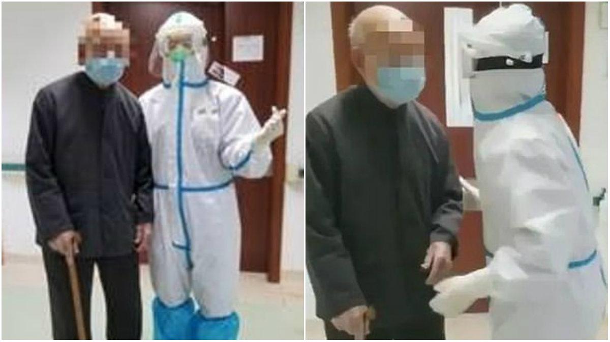 Ishte infektuar me koronavirus/ 101 vjeçari del i shëruar nga spitali për t'u kthyer tek gruaja e tij 92-vjeç