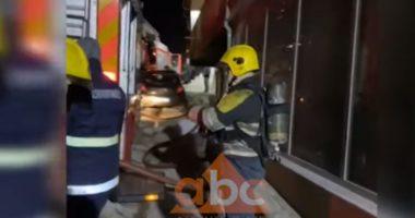 Zjarr në garazhdin e një pallati, evakuohen banorët