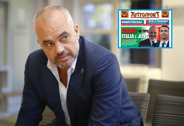"""Recetë kuqezi për COVID-19, kryeministri Edi Rama """"pushton"""" Italinë"""
