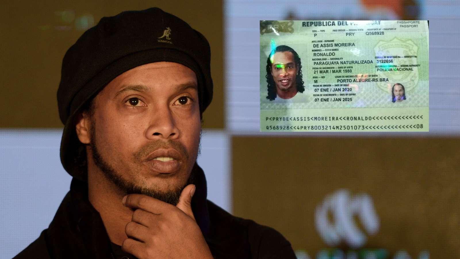 Ronaldinho pranon fajin, gjobitet dhe lihet i lirë në Paraguai