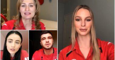 VIDEO/ Volejbolli në kor: Qëndroni në shtëpi, së bashku ia dalim