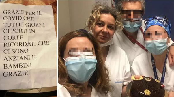 Letra e fqinjëve për infermieren: 'Faleminderit që po na sjell koronavirusin çdo ditë'