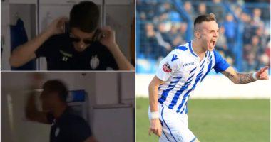 """VIDEO/ Video e Albi Dokës, bardheblutë """"party"""" në dhomat e zhveshjes"""