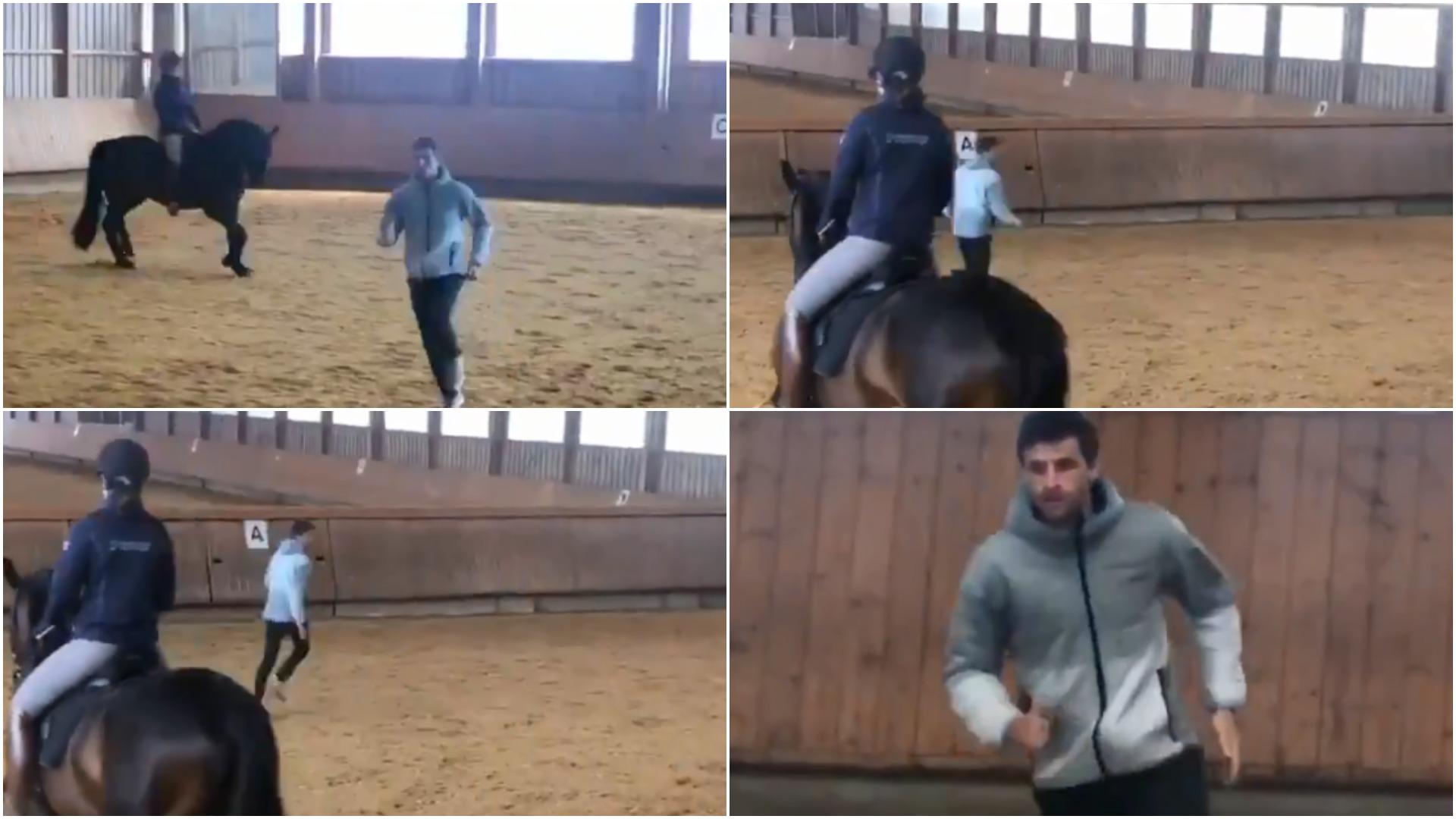 VIDEO   Stërvitje në kohë karantine, Muller në garë me një kalë!