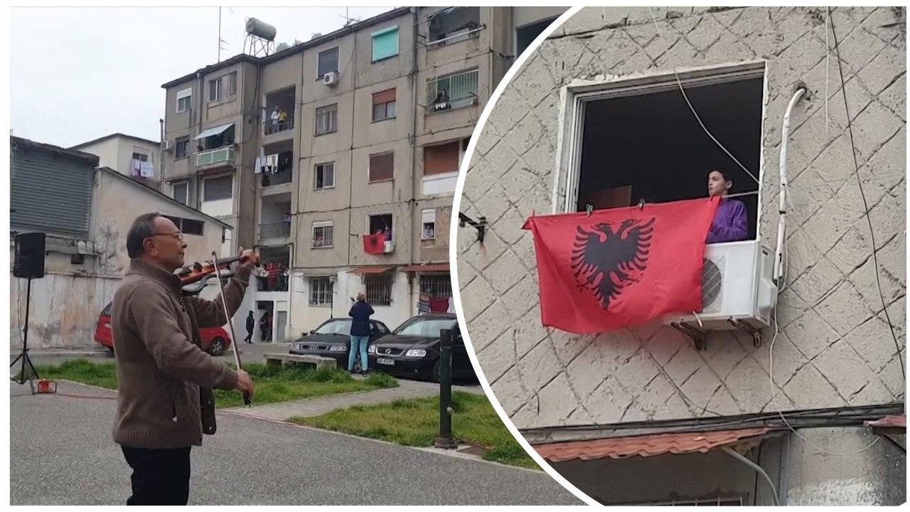 VIDEO / Artistët e Durrësit argëtojnë qytetarët në ballkone, koncert në kohë karantine