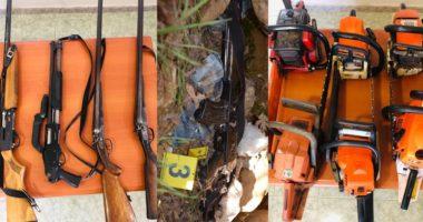 Policia i vë prangat shtatë të rinjve në Dibër, sekuestrohen armë e 6 motosharra