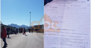 U tha se nuk do të penalizoheshin, dy emigrantët shqiptarë gjobiten nga pala greke për shkeljen e afatit të qendrimit