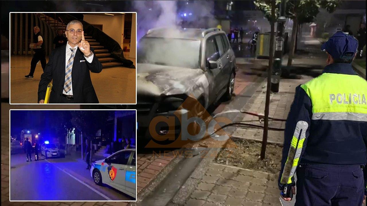 DETAJET/ Shkrumbimi i automjeteve të ish-kryetarit të Gjykatës së Elbasanit, zjarri u vu nga persona me maska