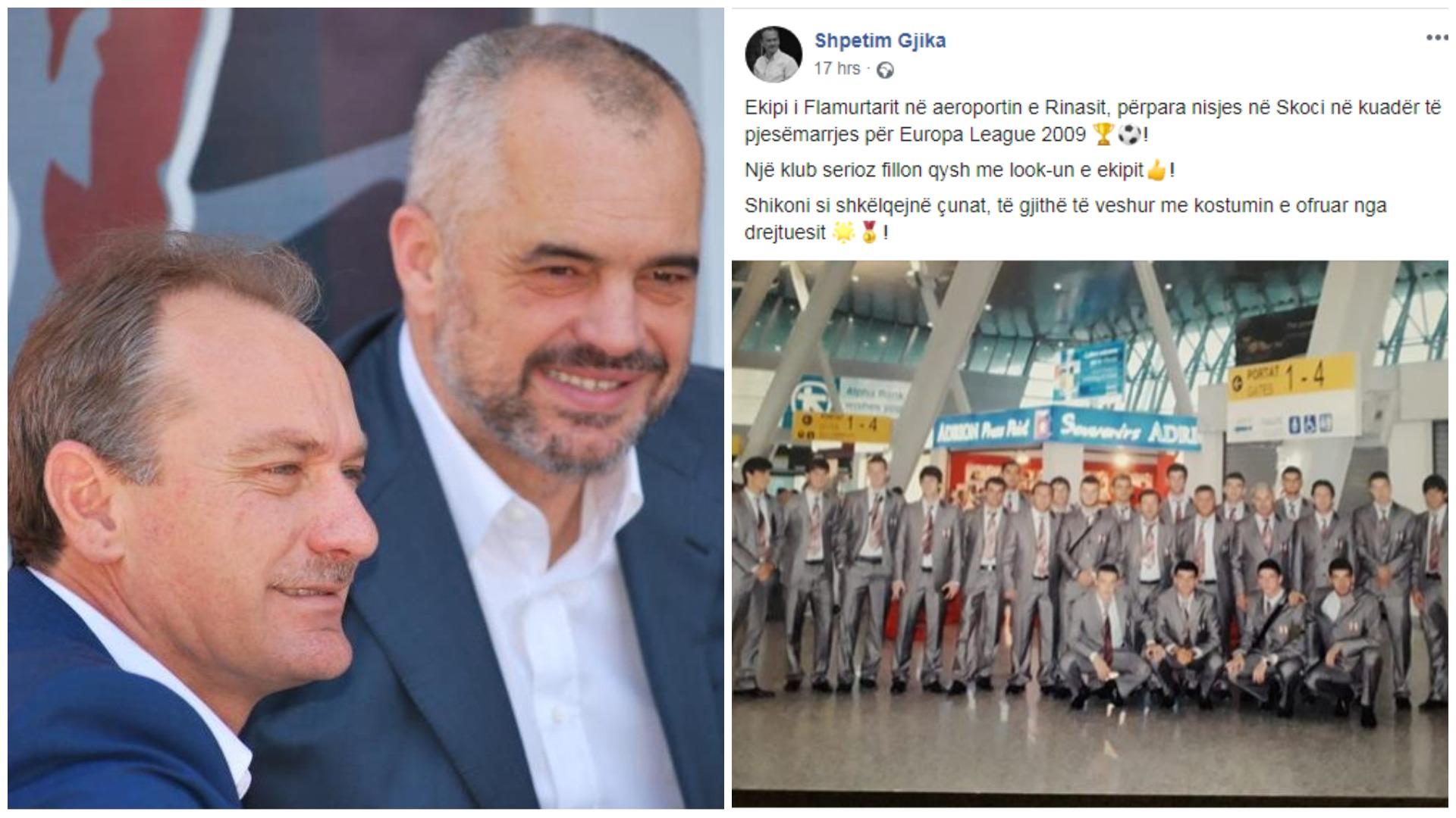"""""""Shikoni si shkëlqen Flamurtari""""/ Tifozët i kujtojnë 8 golat, Gjika: Po Roma të shkrihej?!"""