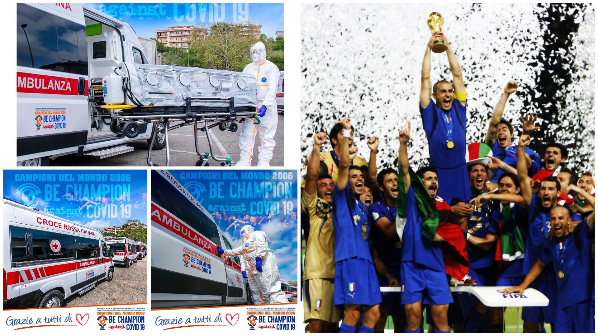 """Kampionë të vërtetë, """"Italia 2006"""" dhuron 4 autoambulanca"""