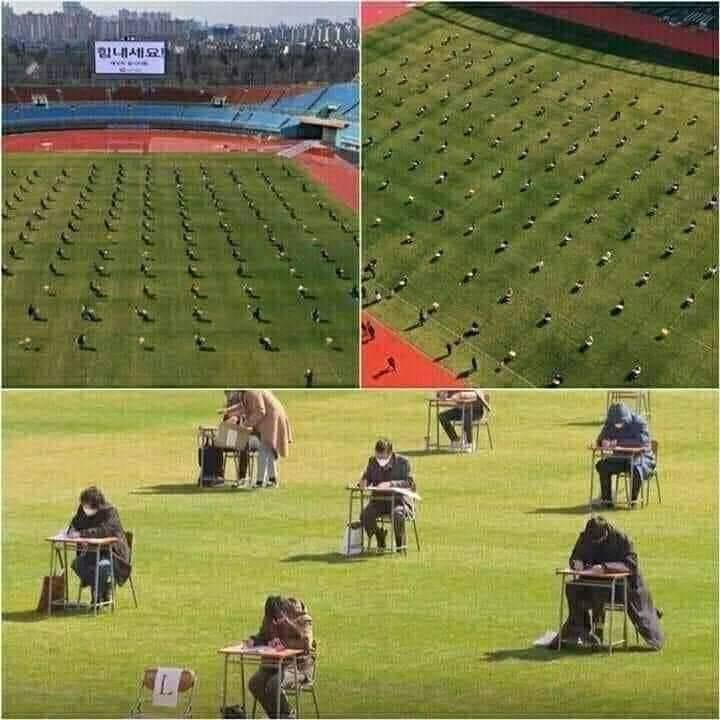 FOTO / Gjithmonë 1 hap përpara, Koreja e Jugut zhvillon provimet në stadium