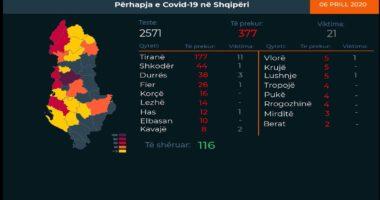 Shkodra dhe Hasi më problematiket, Tirana vijon kryesimin: Ku janë rastet e reja me koronavirus gjatë 24 orëve të fundit