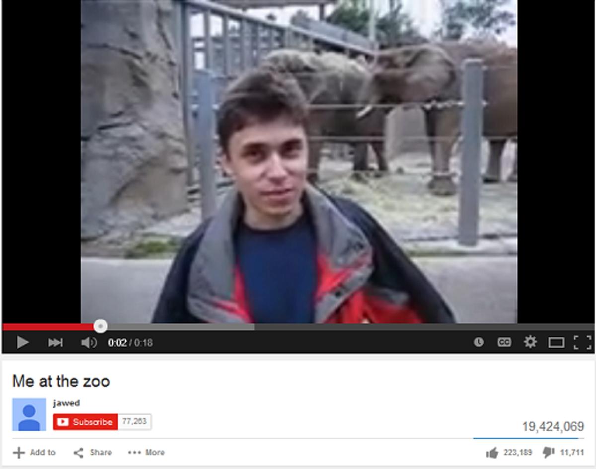 15 vite nga video e parë e ngarkuar në YouTube