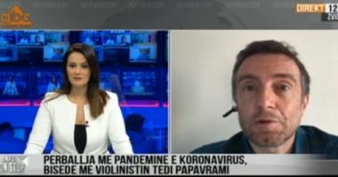 Koronavirusi, flet për ABC News violinisti Tedi Papavrami: Më duket një katastrofe e madhe, e shoh dhe në ëndërr