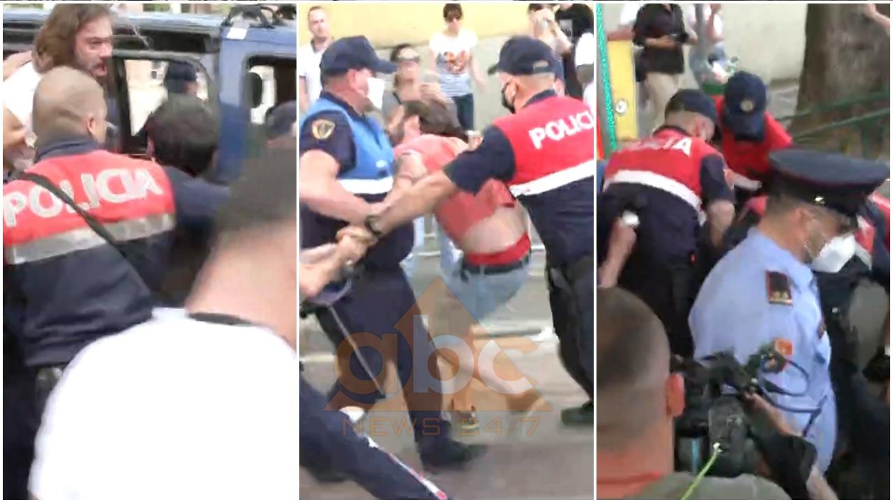 VIDEO/ Policia shpërndan me dhunë protestuesit në Tiranë