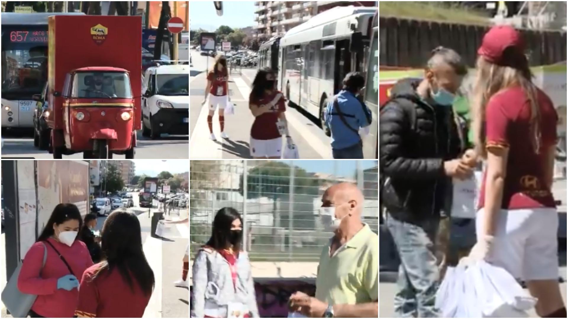 VIDEO | Plot 41 mijë maska për qytetarët, klubi i Romës zbret në rrugë