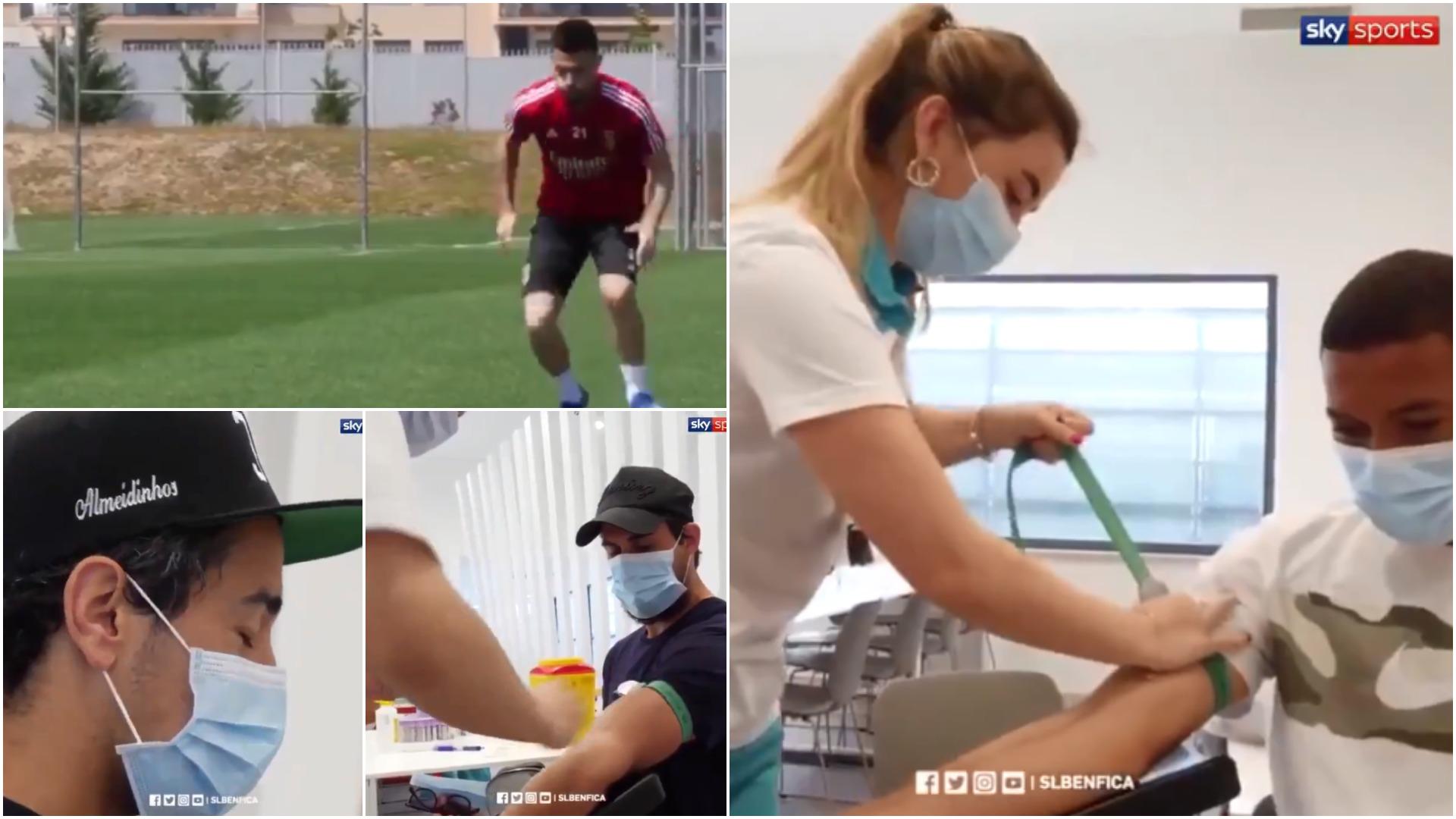 VIDEO | Rutina e re e futbollistëve, askush në fushë pa kryer testet!