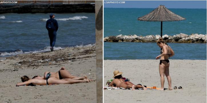 FOTO/ Të mërzitur nga karantina, qytetarët mësyjnë plazhet
