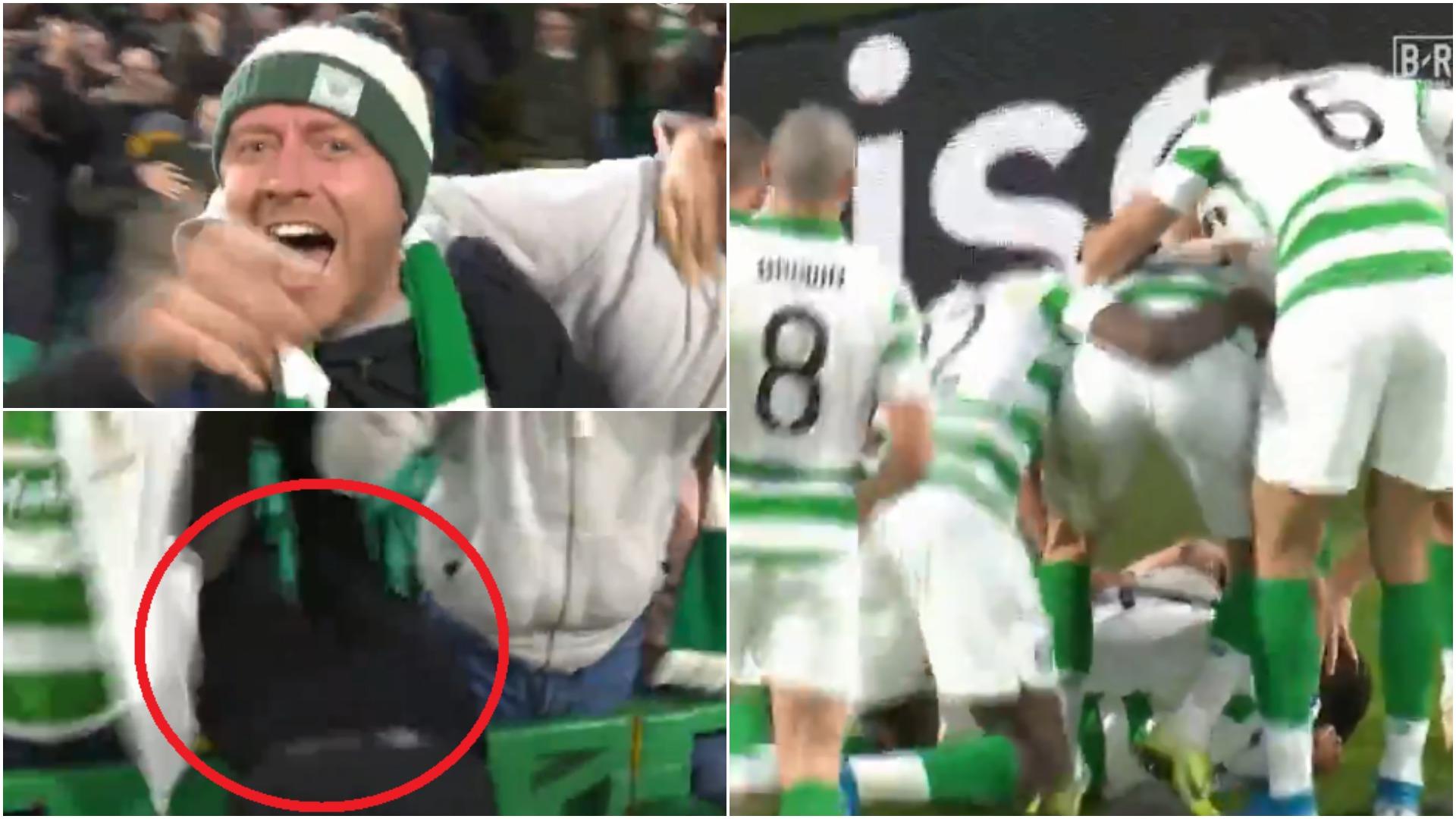 VIDEO | Episod qesharak, festa e tifozit të Celtic që u bë virale