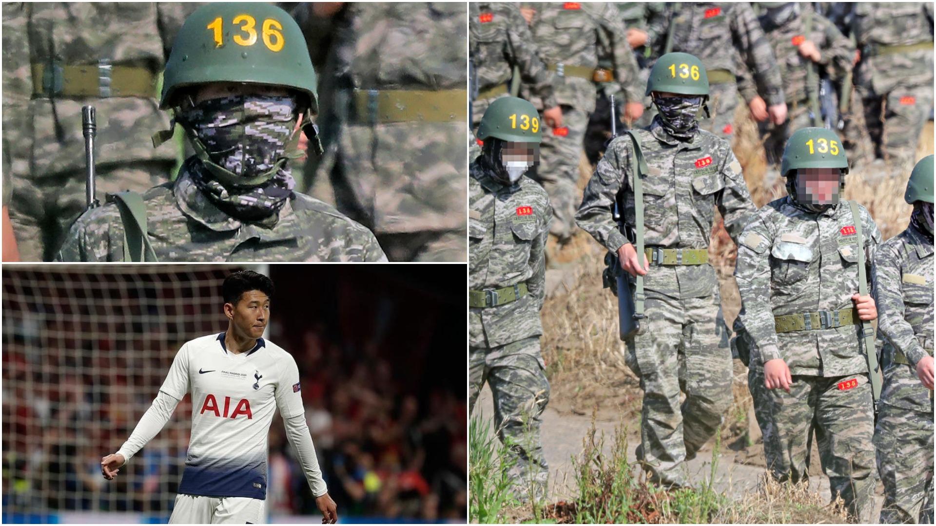 FOTO   Heung-min Son ushtar, ylli i Tottenham fotografohet me uniformë