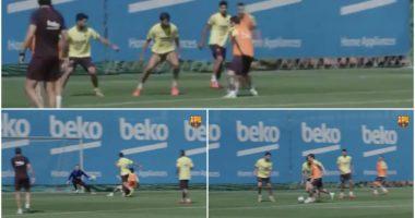"""VIDEO/ Ju ka munguar Messi? """"Pleshti"""" dhuron spektakël në stërvitje"""