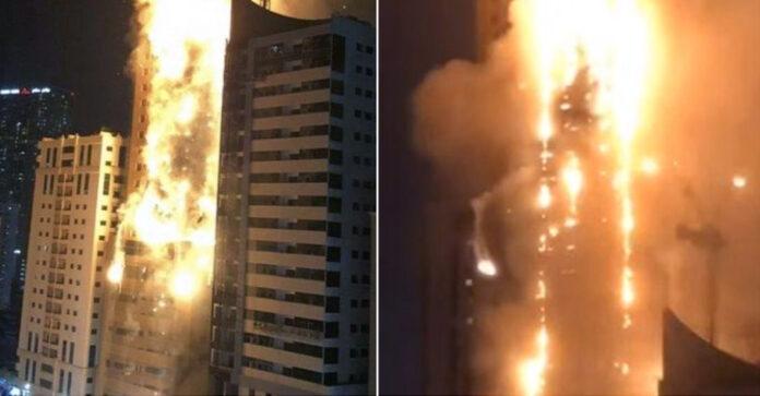 Pallati 48 katësh shkrumbohet nga flakët, banorët bërtasin të tmerruar
